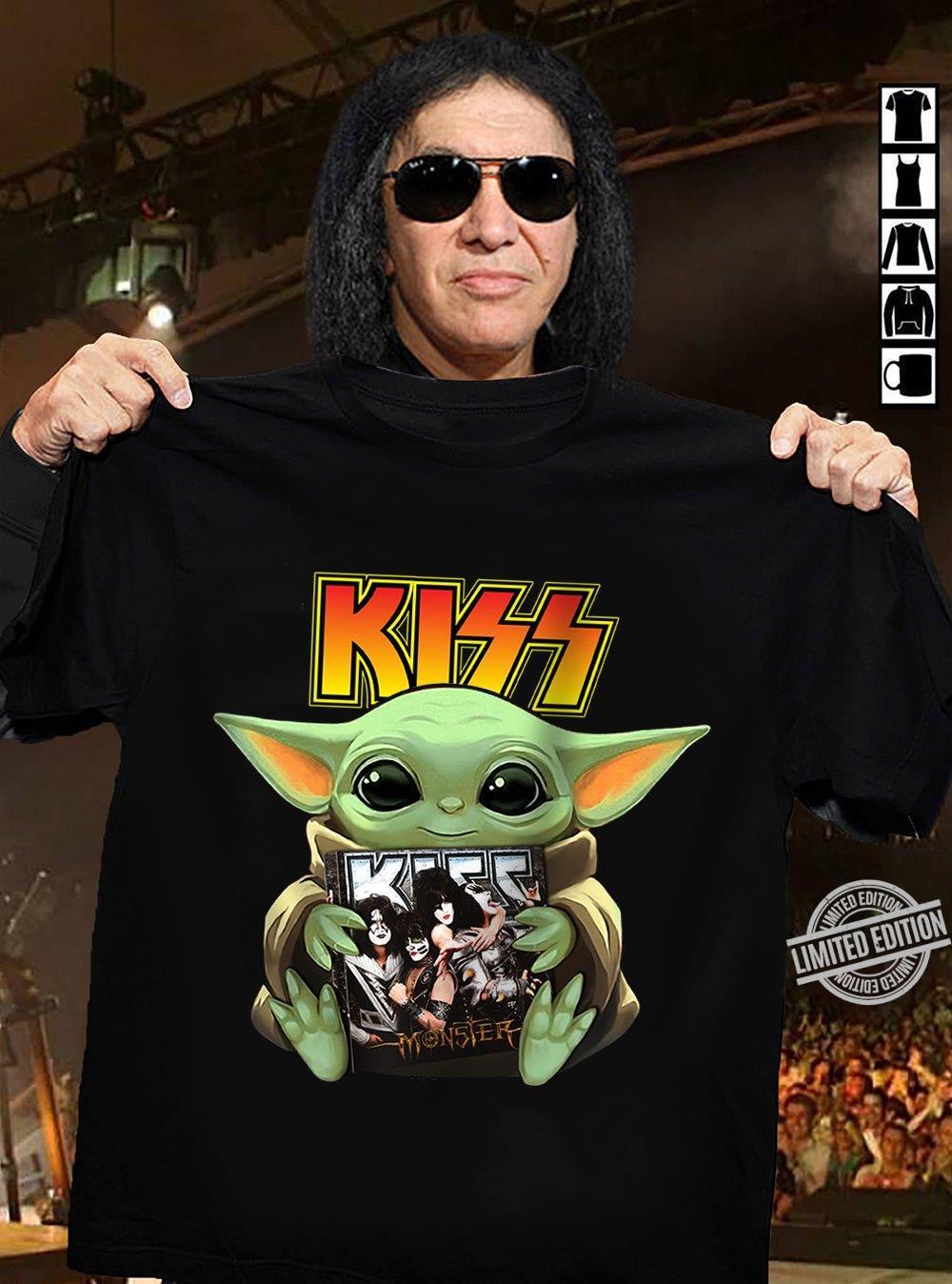 Baby Yoda Hug Kiss Monster Shirt