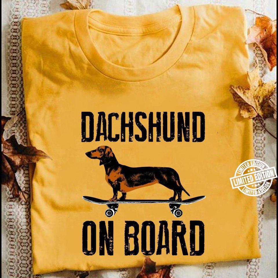 Dachshund on board shirt