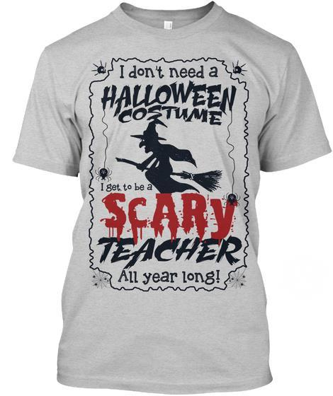Halloween Custume Scary Teacher Witcher Shirt