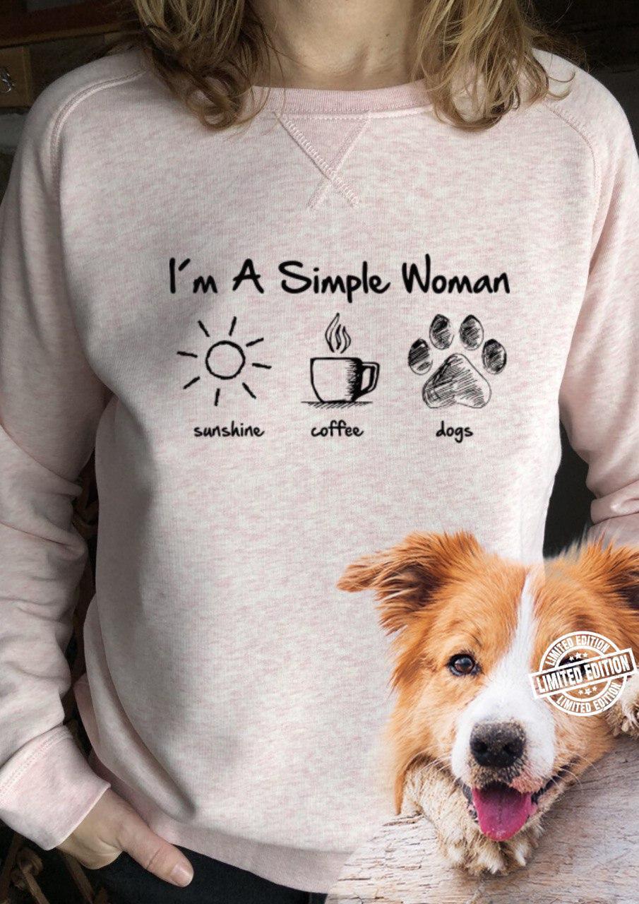 I'm a simple woman sunshine coffee dogs shirt