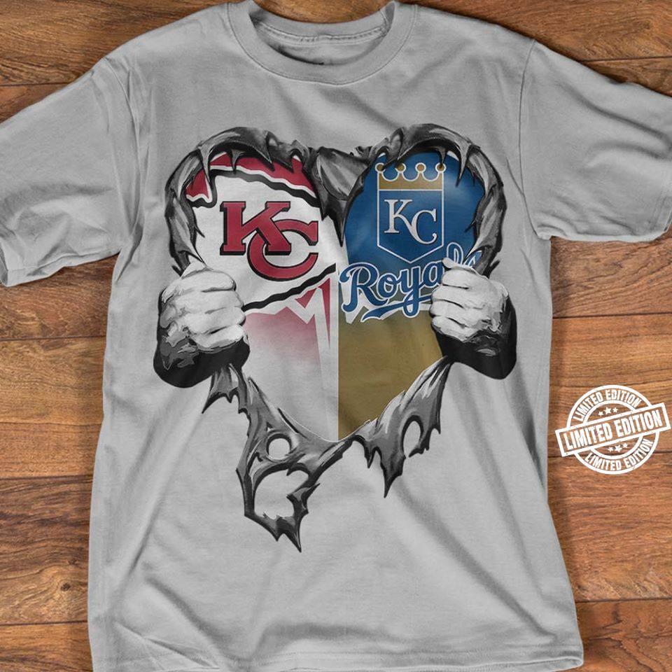 Kansas City Chiefs and Kansas City Royals heart shirt