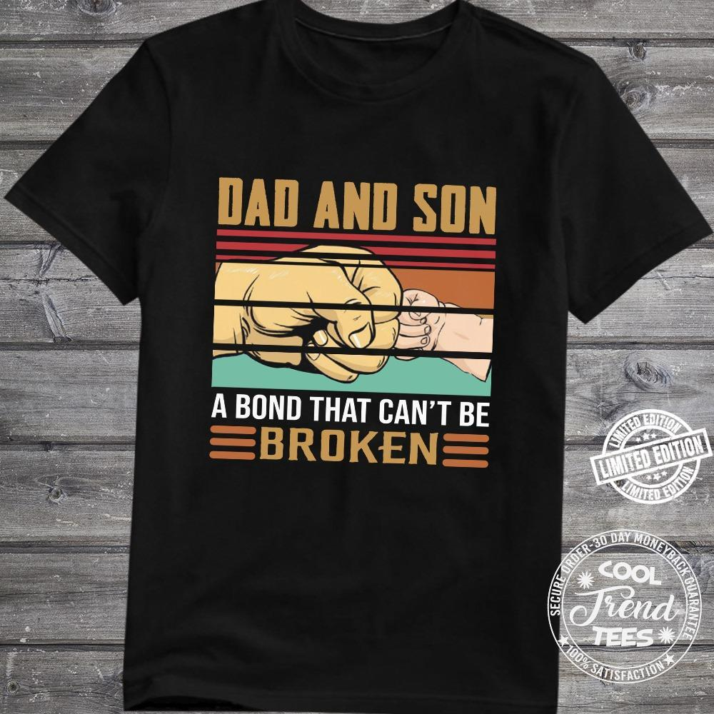 dad and son a bond that can_t be broken shirt